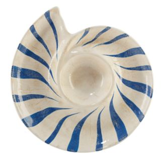 Certified International Seaside 3D Shell Chip & Dip Tray