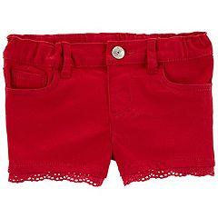 Baby Girl OshKosh B'gosh® Eyelet-Trim Shorts