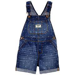 Baby Girl OshKosh B'gosh® Star Denim Shortalls