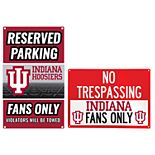 Indiana Hoosiers Metal Sign Set
