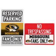 Missouri Tigers Metal Sign Set