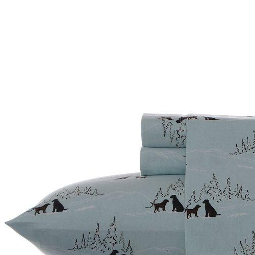 Eddie Bauer Printed Flannel Twin XL Sheet Set