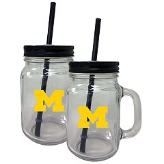 Michigan Wolverines Mason Jar Set