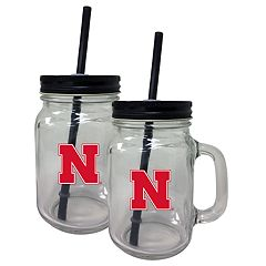 Nebraska Cornhuskers Mason Jar Set