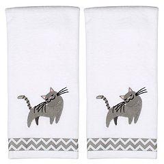Saturday Knight, Ltd. Cat 2-pack Hand Towels