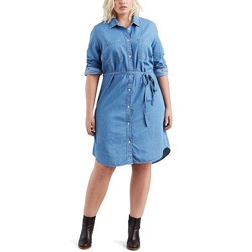 Plus Size Levi's® Jean Shirtdress