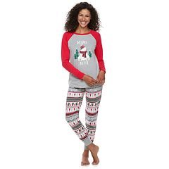 Women's Jammies For Your Families Polar Bear Fairisle Family Pajamas 'Mama Bear' Top & Bottoms Set by Cuddl Duds