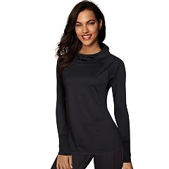 Women's Maidenform Sport Baselayer Funnel Neck Hooded Top