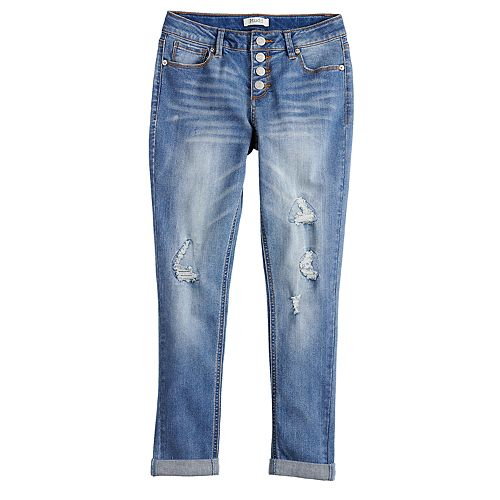 Girls 7-16 Mudd® Exposed Button Skinny Jeans