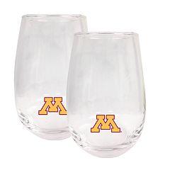 Minnesota Golden Gophers Stemless Wine Glass Set
