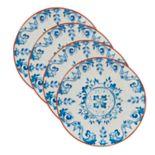 Certified International Porto 4-piece Salad Plate Set