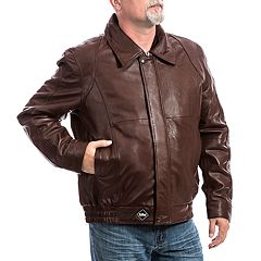 Men's Franchise Club Classic Leather Bomber Jacket