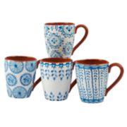 Certified International Porto 4-piece Mug Set