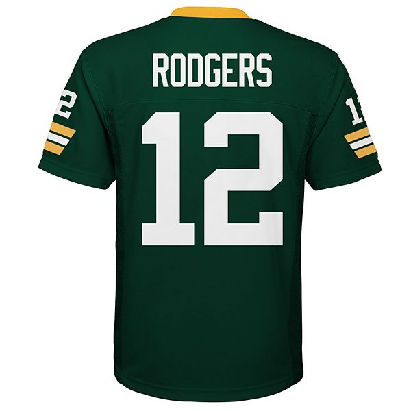 Boys 8-20 Green Bay Packers Aaron Rodgers Jersey