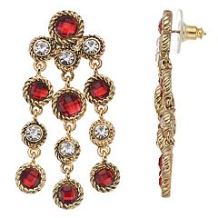 Napier Simulated Crystal Chandelier Drop Earrings