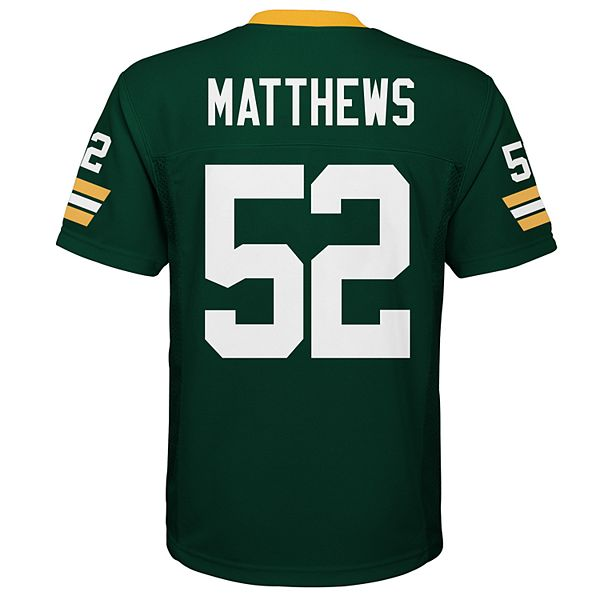 Boys 8-20 Green Bay Packers Clay Matthews Jersey