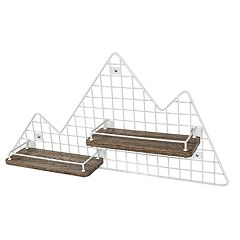 Honey-Can-Do Kids Collection Mountains Wall Shelf
