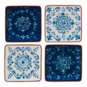 Certified International Porto 4-piece Canape Plate Set