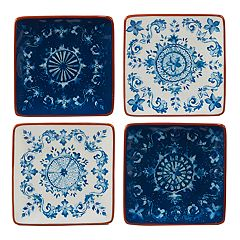 Certified International Porto 4-piece Canape Plate Set