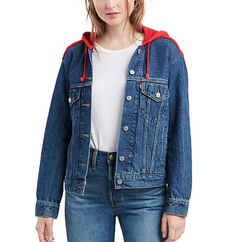 Women's Levi's Boyfriend Hooded Trucker Jean Jacket