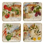 Certified International Piazette 4-piece Salad Plate Set