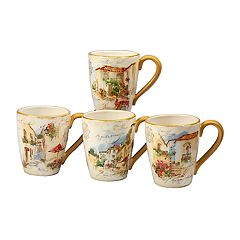 Certified International Piazette 4-piece Mug Set