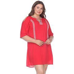 Plus Size White Mark Cold-Shoulder Dress
