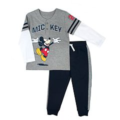 Disney's Mickey Mouse Toddler Boy 'Mickey'  Henley Top & Jogger Pants Set
