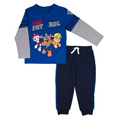 Toddler Boy Jumping Beans® Paw Patrol Mock Layer Henley Top & Jogger Pants Set