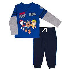 Toddler Boy Jumping Beans® Paw Patrol Mock Layer Henley Top & Jogger Pants Set