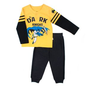 "Toddler Boy DC Comics Spider-Man ""Dark Knight"" Henley Top & Jogger Pants Set"
