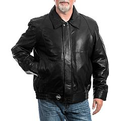 Big & Tall Franchise Club Classic Leather Bomber Jacket
