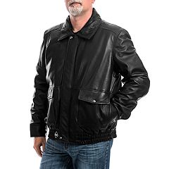 Men's Franchise Club Wings Leather Bomber Jacket