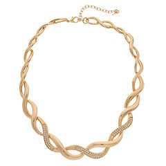 Napier Gold Tone Twisted Collar Necklace