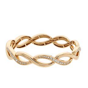 Napier Simulated Crystal Stretch Bracelet