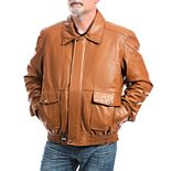 Big & Tall Franchise Club Wings Leather Bomber Jacket