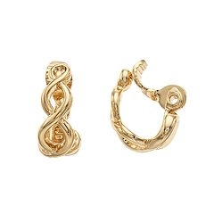 Napier Twisted Hoop Clip-On Earrings