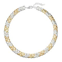 Napier Two Tone Collar Necklace