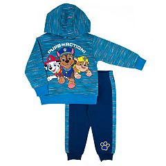 Toddler Boy Paw Patrol 'Pups in Action' Marshall, Chase & Rubble Pullover Hoodie & Jogger Pants Set