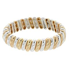 Napier Two Tone Stretch Bracelet