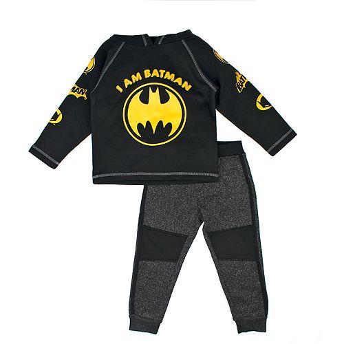 Batman Little Boys Pullover Hoodie /& Jogger Set