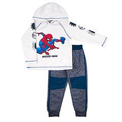 Toddler Boy Marvel Spider-Man Hoodie & Marled Pants Set