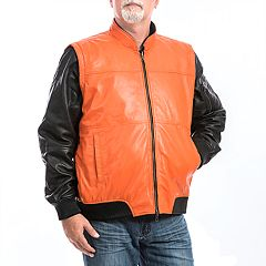 Men's Franchise Club 4-in-1 Leather Bomber Jacket
