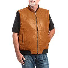 Men's Franchise Club 4-in-1 Lambskin Leather Bomber Jacket