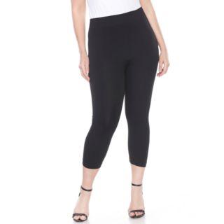 Plus Size White Mark Capri Leggings
