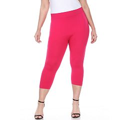 Plus Size White Mark Capri Leggings
