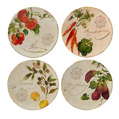 Certified International Piazette 4-piece Canape Plate Set