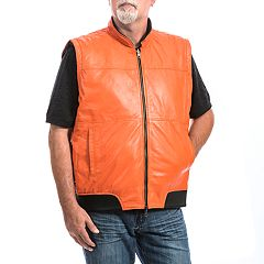 Big & Tall Franchise Club 4-in-1 Lambskin Leather Bomber Jacket