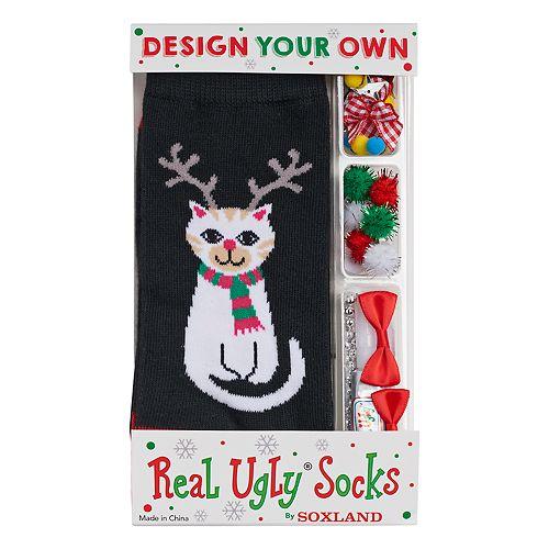 Christmas Stockings Kits.Women S Design Your Own Real Ugly Christmas Socks Kit