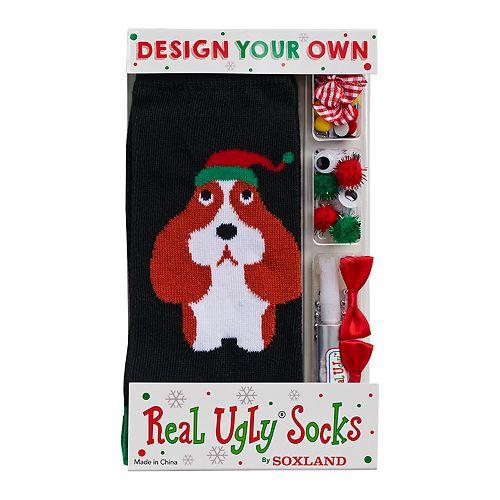Women's Design Your Own Real Ugly Christmas Socks Kit